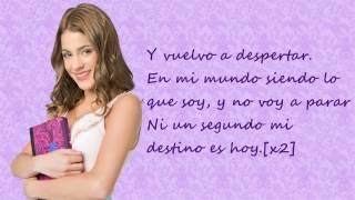 Violetta En Mi Mundo Spanish Version Versión Española Martina Stoessel Lyrics