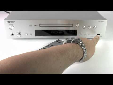 ONKYO C-7070 CD Player with iPod, iPhone, USB & MP3 playback - How to use