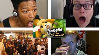 All Reactions to Isabelle Reveal Trailer - Super Smash Bros. Ultimate