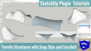 Video Modeling Tensile Structures with Soap Skin and Curviloft - SketchUp Extension Tutorials download MP3, 3GP, MP4, WEBM, AVI, FLV Desember 2017