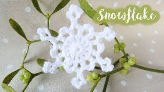 Today I show you how to crochet a quick snowflake! An easy project suitable for beginners. Written pattern here: ...