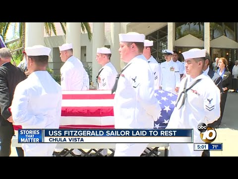 Father breaks down as USS FItzgerald sailor is laid to rest