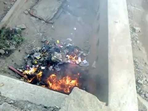 Water Harvesting Pits misused - cancer - ground water pollution - solid waste trash burning