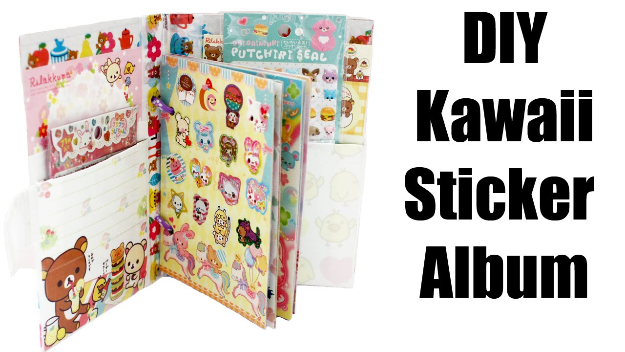 How To Make A Removable Book Cover ~ Kawaii sticker album tutorial how to make youtube