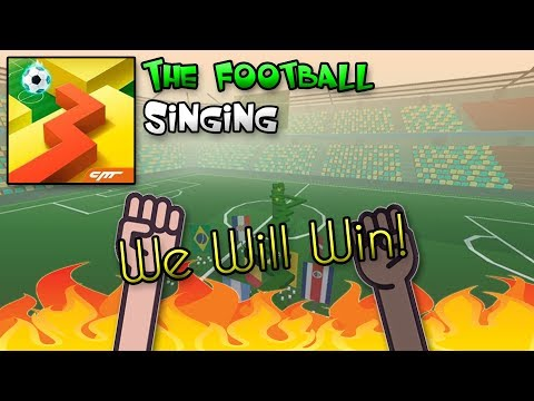 Dancing Line Singing - We Will Win! (The Football)