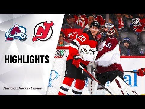 NHL Highlights   Avalanche @ Devils 1/4/20