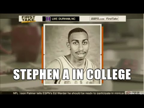THROWBACK: Stephen A Smith plays college basketball!