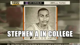 throwback stephen a smith plays college basketball