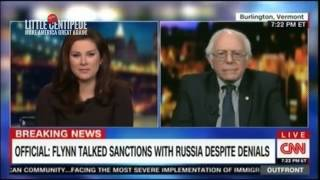 CNN Cuts Off Interview with Bernie Sanders After He Calls Them FAKE NEWS!