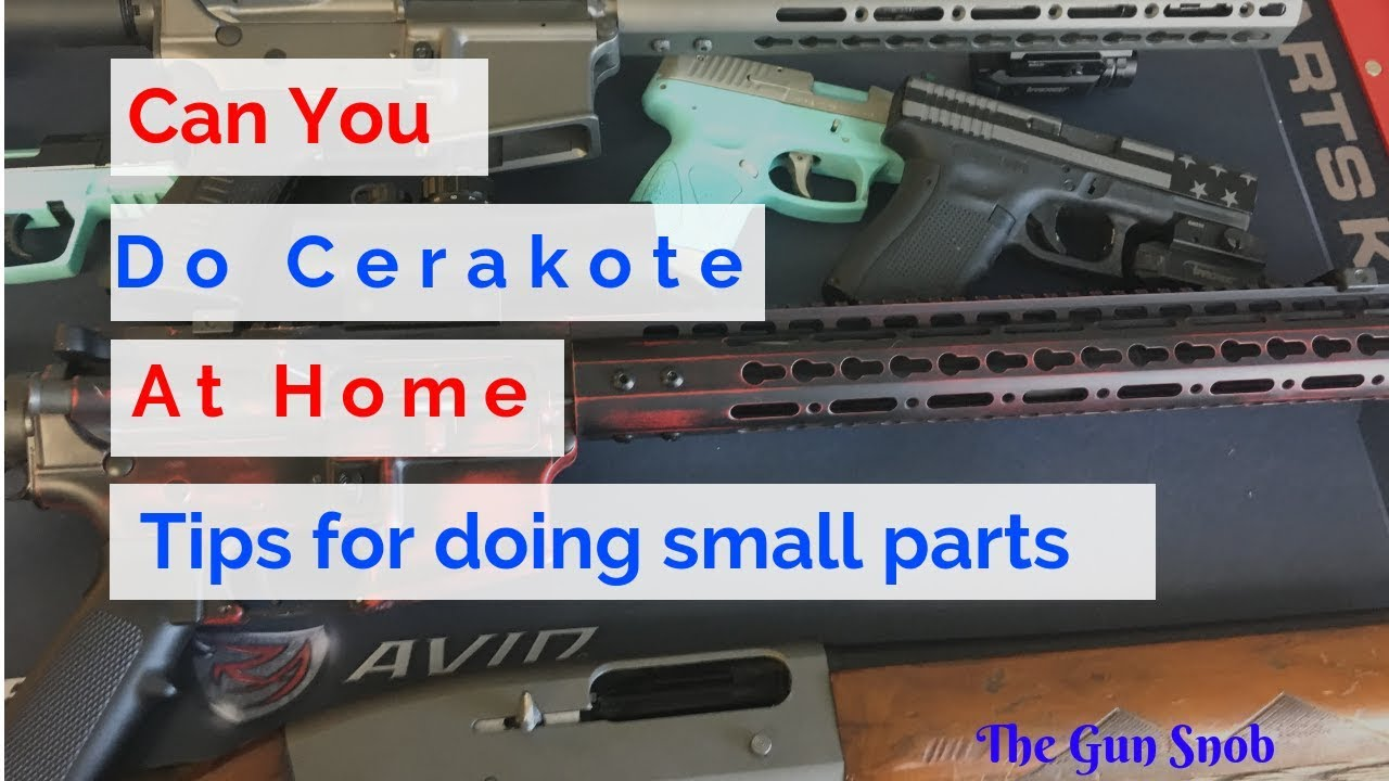 How to Cerakote At Home (small parts) Glock 42