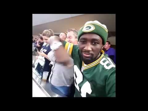 Terence Crawford goes INSANE watching Green Bay Packers beat Dallas Cowboys in Dallas!