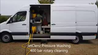 Jetclenz Pressure Washing 400 bar rotary cleaning