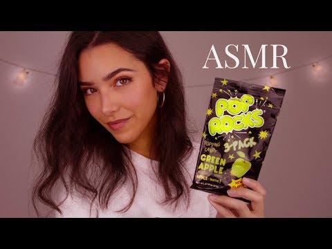 ASMR Candy Eating (Intense Mouth Sounds, POP ROCKS, Plastic sounds...)