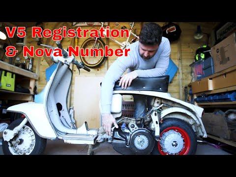 Importing scooters! NOVA number, registration process inc MOT and TAX requirements. Lambretta &Vespa