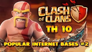 HOW TO 3 STAR TH10 RING BASES I CLASH OF CLANS I MASS VALKS STRATEGY I INTERNET BASES 3 STARRED