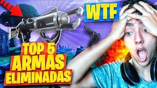 TOP 5 ARMAS ELIMINADAS de FORTNITE: Battle Royale!! - Agustin51
