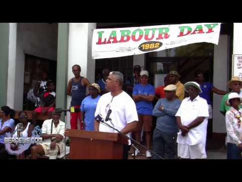 OBA Leader Craig Cannonier At Labour Day, Sept 3 2012