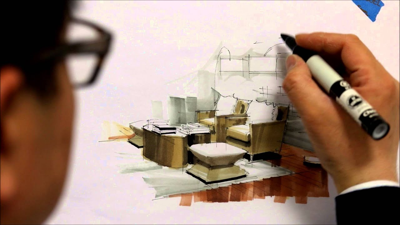 tutorial freehand marker interior rendering mlib living