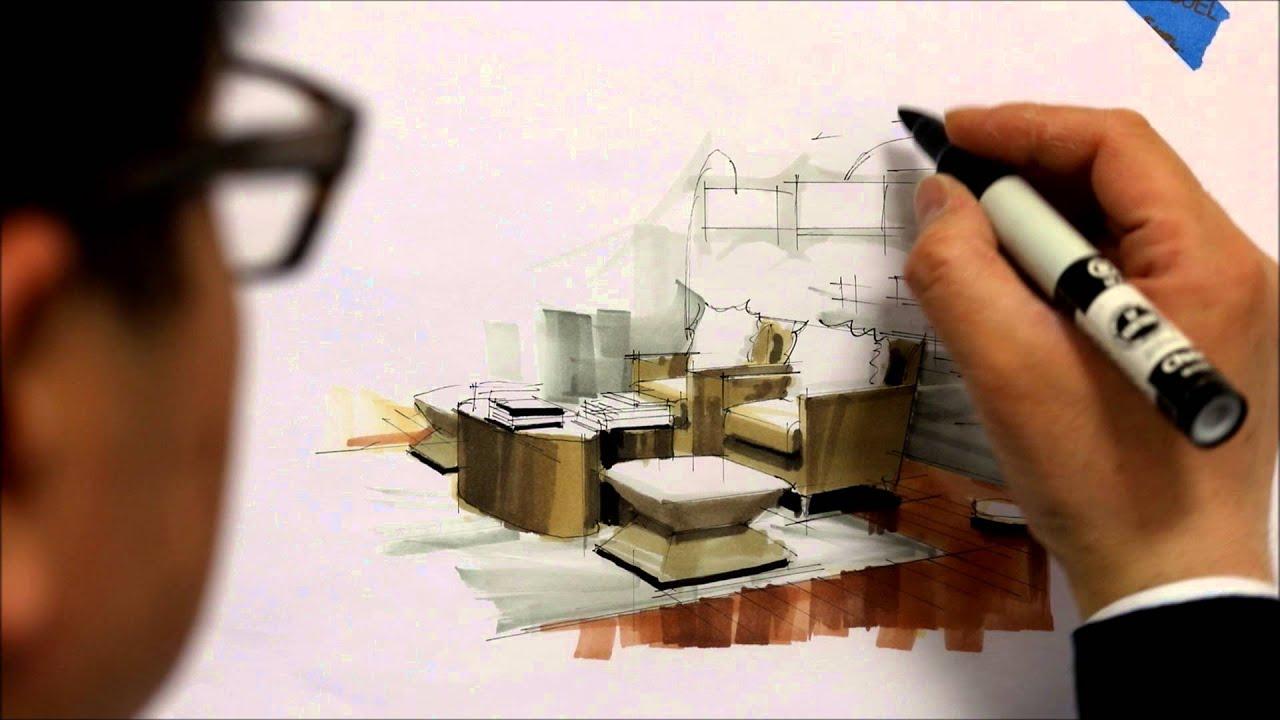 Tutorial  Freehand Marker Interior Rendering MLib Living