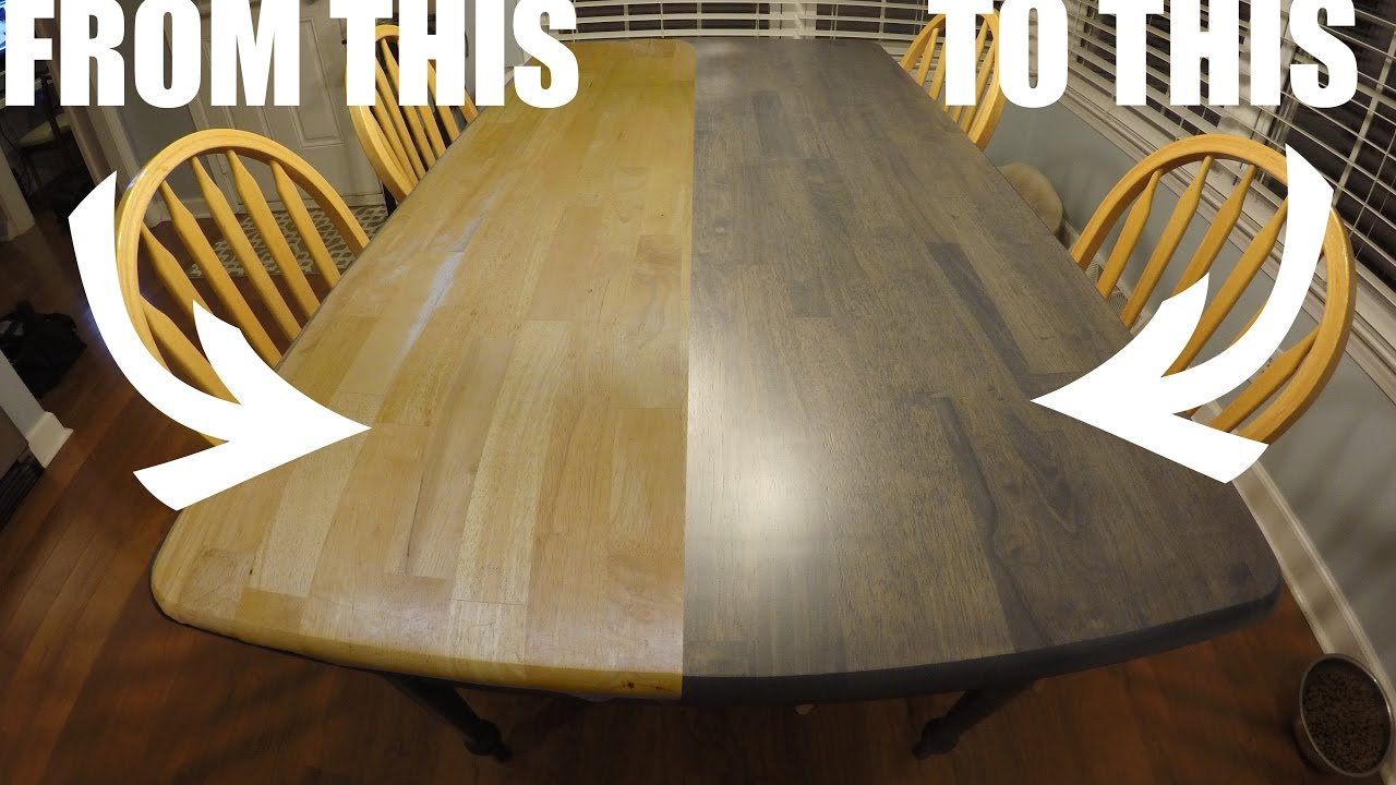wooden kitchen tables appliance packages stainless steel refinishing the table worn out craigslist to clean and modern