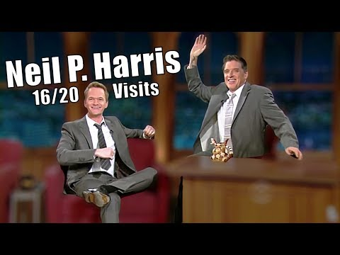 Neil Patrick Harris - Craig Kissed Neil ?! - 16/20 Visits In Chronological Order