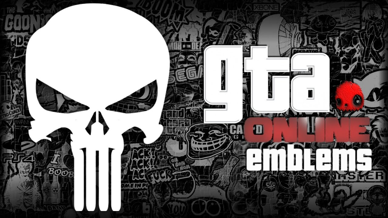 gta v punisher logo emblem tutorial grand theft auto 5 screetch2009 youtube