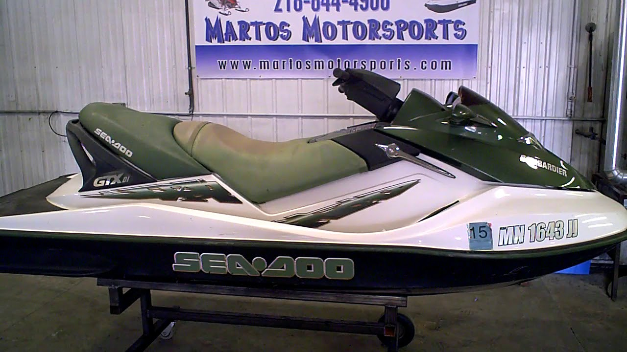 2002 SEA DOO GTX DI Green Tear Down Into Parts LOT 3052C Martos Motorsports