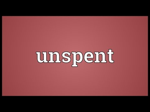 Unspent Meaning
