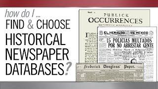 How Do I Find Historical Newspaper Databases?