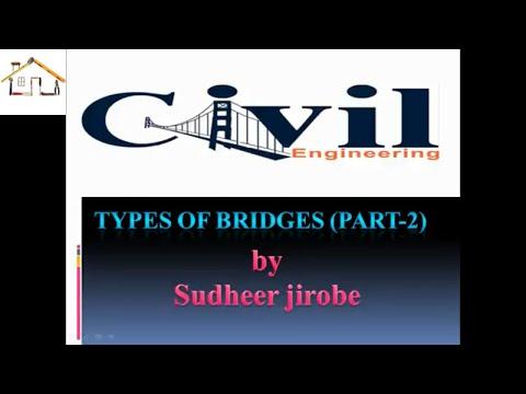 types of bridges in civil engineering ( part 2)