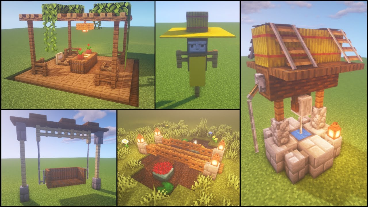 Minecraft: 30+ Outdoor Build Hacks and Ideas - YouTube