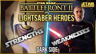 Gambar cover Lightsaber Hero Strengths And Weaknesses (Dark Side) | Star Wars Battlefront 2 Tips