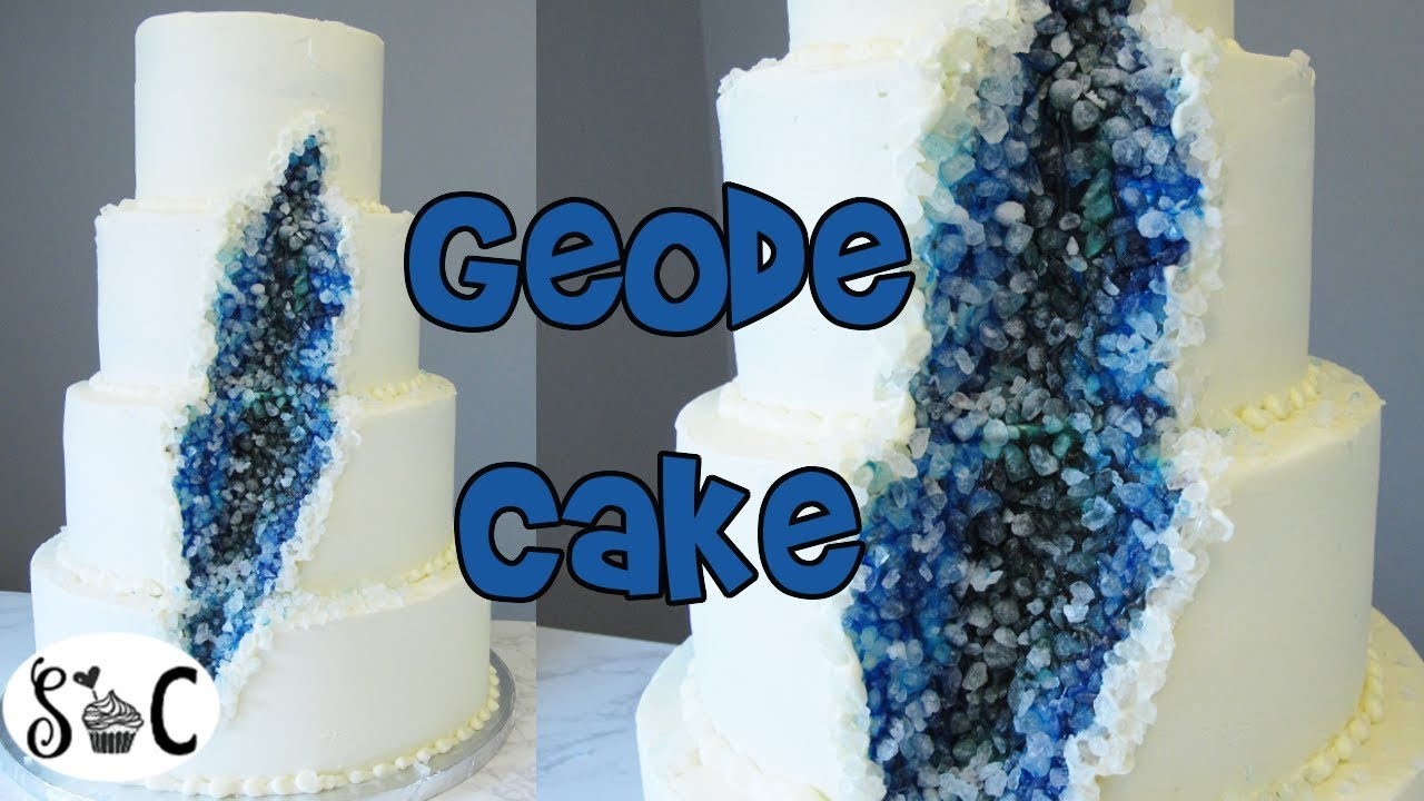 How To Make A Geode Cake Geode Wedding Cake Sweetwater Cakes Youtube