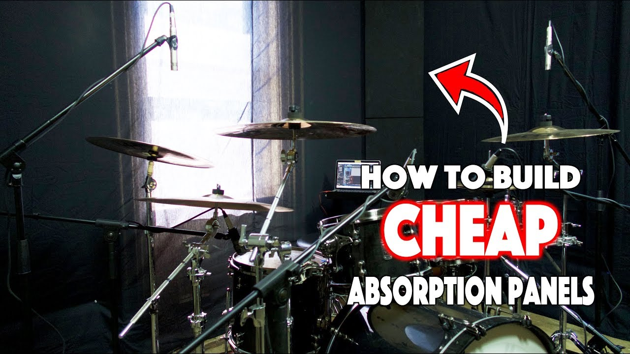 How To Build Sound Absorption Panels For A Drum Room
