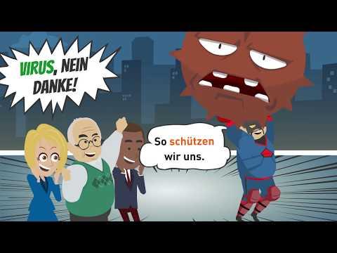 Deutsch lernen / Bleib zu Hause! So schützen wir uns gegen das Virus!