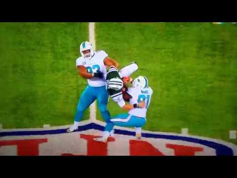 Ndamukong Suh and Cam Wake almost Kill NY Jets QB Bryce Petty