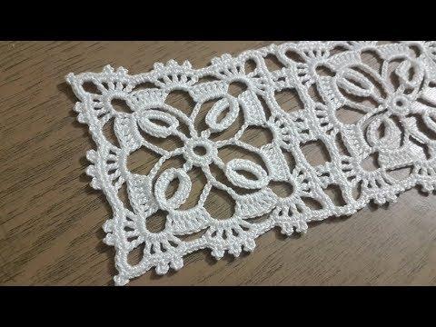 Tığişi örgü kare dantel motifi yapımı & Crochet doily