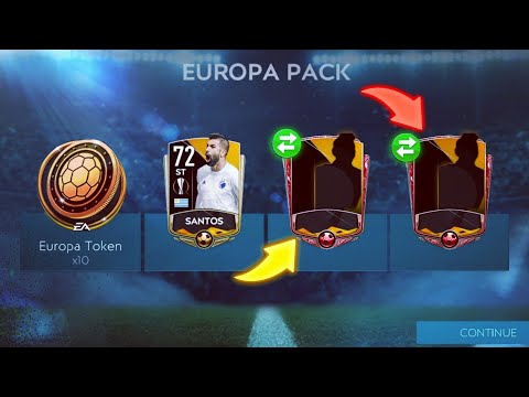 ELITE PACK OPENING IN FIFA MOBILE 20 - BEST EUROPA LEAGUE PACK OPENING