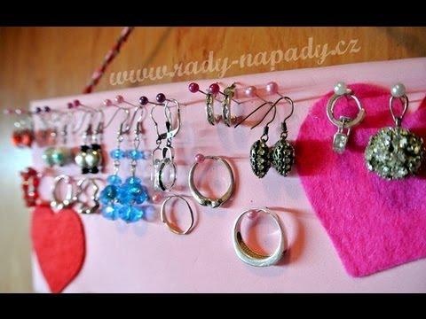 fb59e6966 Organizér na šperky / stojan na náušnice - YouTube