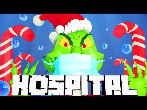 Minecraft Mods Hospital - Grinch Heart Transplant! (Atlantis Roleplay) #1