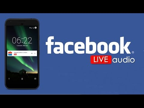 how to live audio on facebook pc