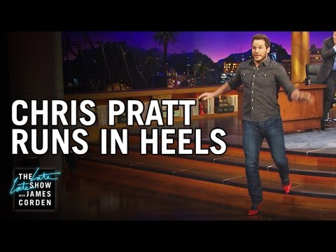 Chris Pratt Runs In Heels