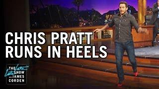 Chris Pratt Runs In Heels