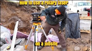 How to use a Rotary Laser (sponsored by Dewalt)