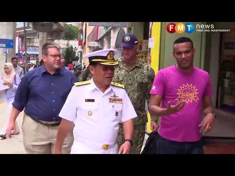 Military, US Navy team up in aid effort for poor children