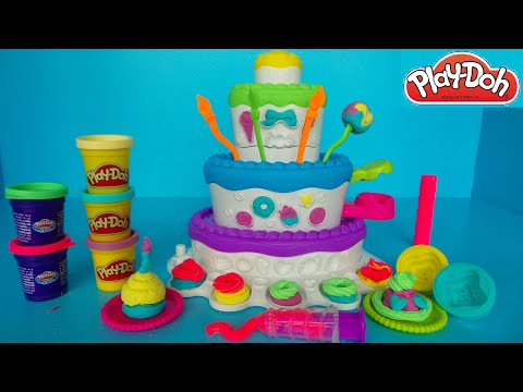 play-doh-taart-cake-mountain-|-speelgoed-review