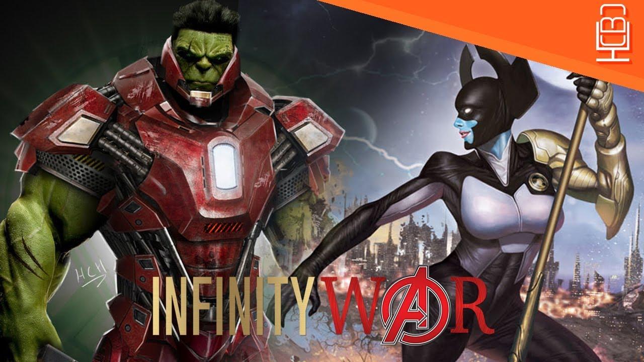 Insane Hulk & Proxima Midnight Avengers Infinity War Scene