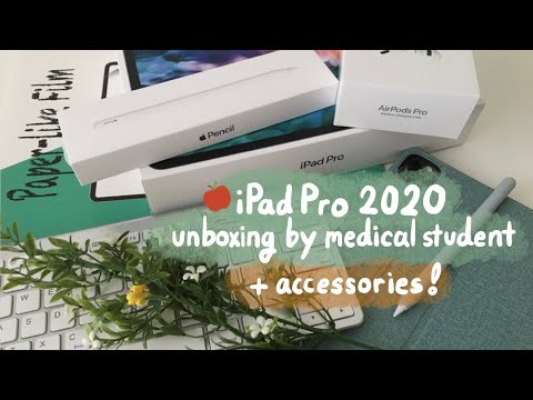 🍎iPad Pro 2020 (12.9''') unboxing + accessories by 🇨🇦medical student | Apple Pencil 2, Airpods Pro