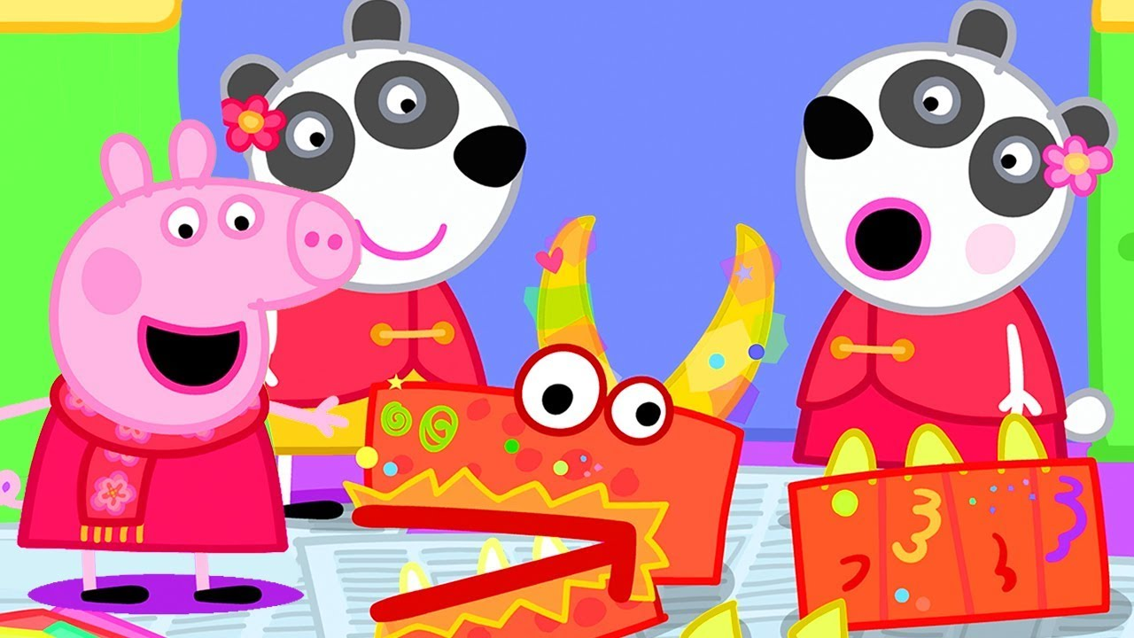 Download Peppa Pig Official Channel ⭐️ NEW SEASON ⭐️  Making a Dragon with Peppa Pig