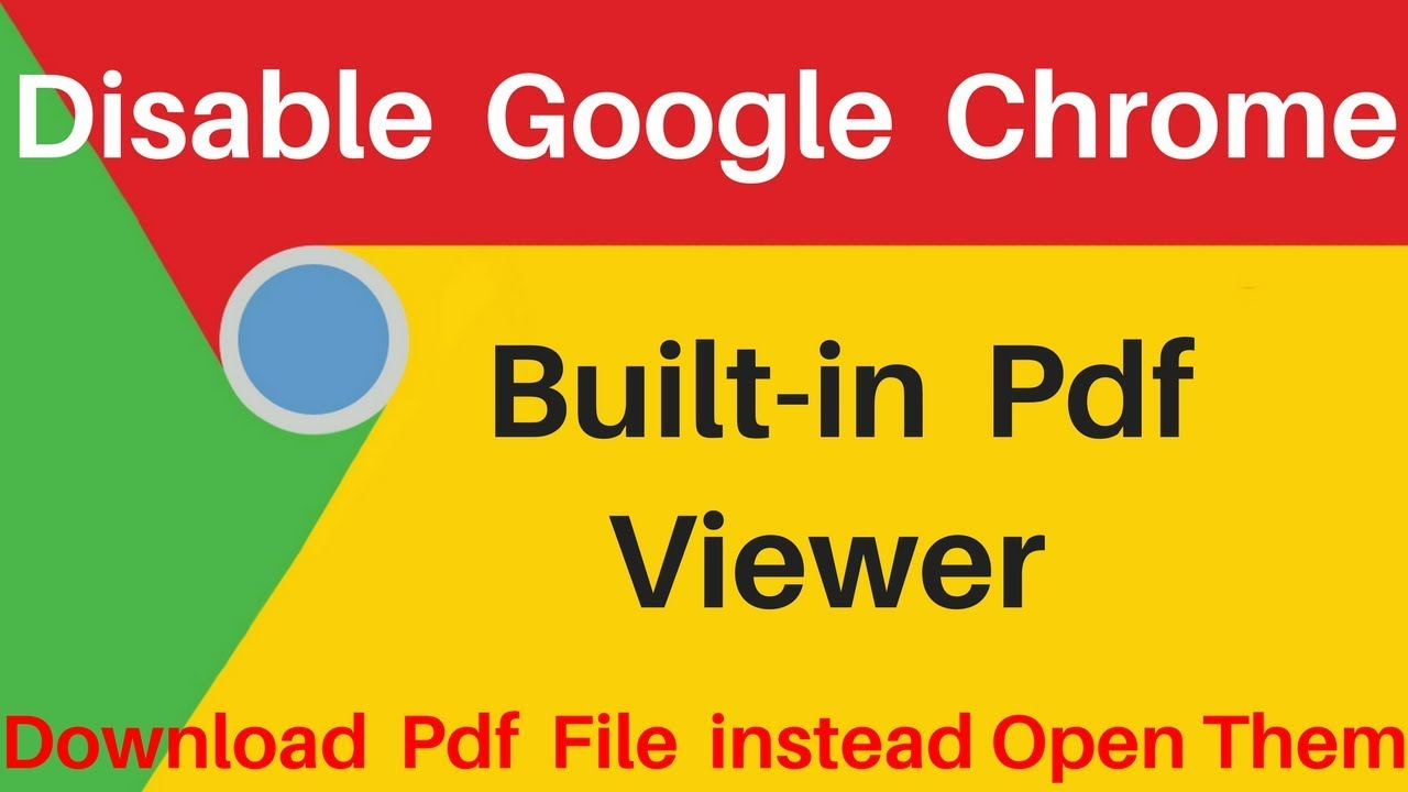 How to Download PDF files instead of automatically opening them in Google  Chrome